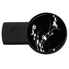 Plant Flora Flowers Composition Usb Flash Drive Round (4 Gb) by Simbadda