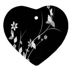 Plant Flora Flowers Composition Heart Ornament (two Sides) by Simbadda