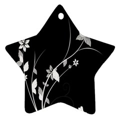 Plant Flora Flowers Composition Star Ornament (two Sides)