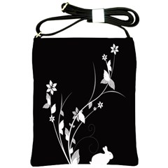 Plant Flora Flowers Composition Shoulder Sling Bags by Simbadda