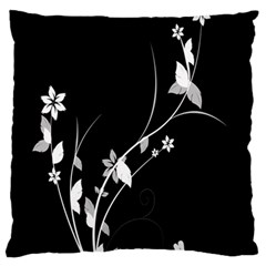 Plant Flora Flowers Composition Large Flano Cushion Case (one Side) by Simbadda