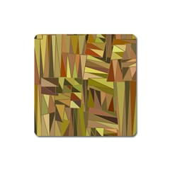 Earth Tones Geometric Shapes Unique Square Magnet by Simbadda