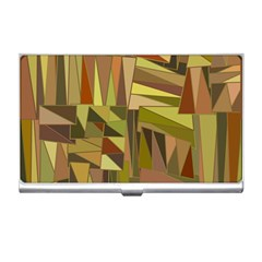 Earth Tones Geometric Shapes Unique Business Card Holders by Simbadda