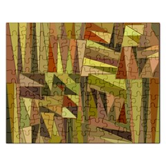 Earth Tones Geometric Shapes Unique Rectangular Jigsaw Puzzl by Simbadda