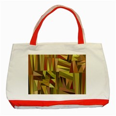 Earth Tones Geometric Shapes Unique Classic Tote Bag (red) by Simbadda