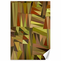 Earth Tones Geometric Shapes Unique Canvas 20  X 30   by Simbadda