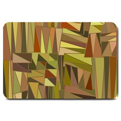 Earth Tones Geometric Shapes Unique Large Doormat  by Simbadda