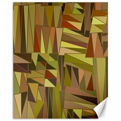 Earth Tones Geometric Shapes Unique Canvas 11  X 14   by Simbadda