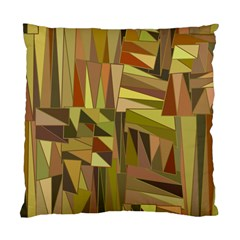 Earth Tones Geometric Shapes Unique Standard Cushion Case (two Sides) by Simbadda