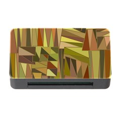 Earth Tones Geometric Shapes Unique Memory Card Reader With Cf by Simbadda