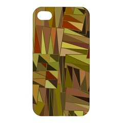 Earth Tones Geometric Shapes Unique Apple Iphone 4/4s Premium Hardshell Case by Simbadda