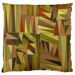 Earth Tones Geometric Shapes Unique Large Cushion Case (two Sides) by Simbadda