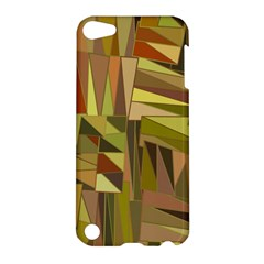 Earth Tones Geometric Shapes Unique Apple Ipod Touch 5 Hardshell Case by Simbadda