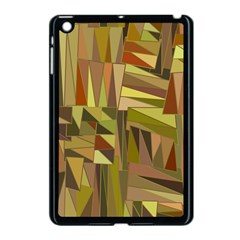 Earth Tones Geometric Shapes Unique Apple Ipad Mini Case (black) by Simbadda