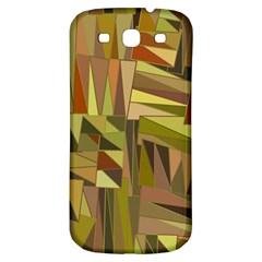 Earth Tones Geometric Shapes Unique Samsung Galaxy S3 S Iii Classic Hardshell Back Case by Simbadda