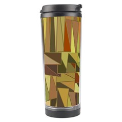 Earth Tones Geometric Shapes Unique Travel Tumbler