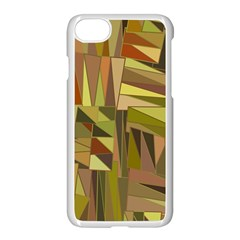 Earth Tones Geometric Shapes Unique Apple Iphone 7 Seamless Case (white) by Simbadda