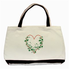 Heart Ranke Nature Romance Plant Basic Tote Bag (two Sides) by Simbadda