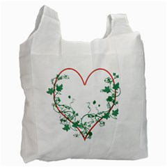 Heart Ranke Nature Romance Plant Recycle Bag (two Side)  by Simbadda