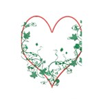 Heart Ranke Nature Romance Plant Shower Curtain 48  x 72  (Small)  42.18 x64.8 Curtain