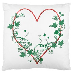 Heart Ranke Nature Romance Plant Large Cushion Case (two Sides) by Simbadda
