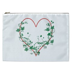 Heart Ranke Nature Romance Plant Cosmetic Bag (xxl)  by Simbadda