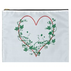 Heart Ranke Nature Romance Plant Cosmetic Bag (xxxl)  by Simbadda
