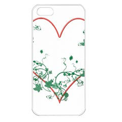 Heart Ranke Nature Romance Plant Apple Iphone 5 Seamless Case (white)