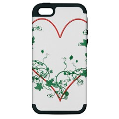 Heart Ranke Nature Romance Plant Apple Iphone 5 Hardshell Case (pc+silicone)