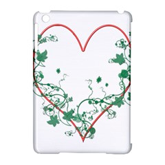 Heart Ranke Nature Romance Plant Apple Ipad Mini Hardshell Case (compatible With Smart Cover) by Simbadda