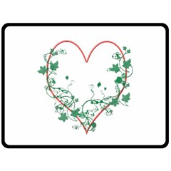 Heart Ranke Nature Romance Plant Double Sided Fleece Blanket (large)  by Simbadda
