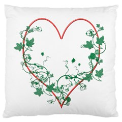 Heart Ranke Nature Romance Plant Standard Flano Cushion Case (one Side) by Simbadda