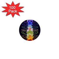 Chakra Spiritual Flower Energy 1  Mini Buttons (100 Pack)