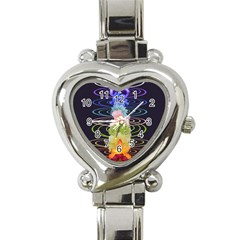 Chakra Spiritual Flower Energy Heart Italian Charm Watch by Simbadda