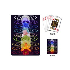 Chakra Spiritual Flower Energy Playing Cards (mini)  by Simbadda
