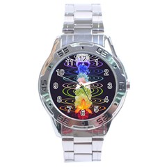 Chakra Spiritual Flower Energy Stainless Steel Analogue Watch by Simbadda