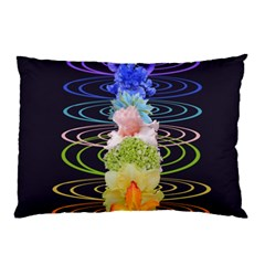Chakra Spiritual Flower Energy Pillow Case (two Sides) by Simbadda