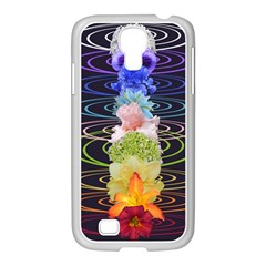 Chakra Spiritual Flower Energy Samsung Galaxy S4 I9500/ I9505 Case (white) by Simbadda