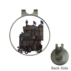 Steampunk Lock Fantasy Home Hat Clips With Golf Markers by Simbadda