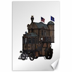 Steampunk Lock Fantasy Home Canvas 12  X 18