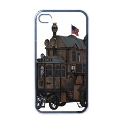 Steampunk Lock Fantasy Home Apple Iphone 4 Case (black) by Simbadda