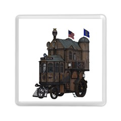 Steampunk Lock Fantasy Home Memory Card Reader (square)