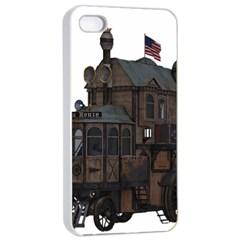 Steampunk Lock Fantasy Home Apple Iphone 4/4s Seamless Case (white) by Simbadda