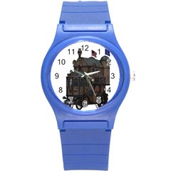 Steampunk Lock Fantasy Home Round Plastic Sport Watch (s) by Simbadda