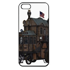 Steampunk Lock Fantasy Home Apple Iphone 5 Seamless Case (black)