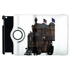 Steampunk Lock Fantasy Home Apple Ipad 3/4 Flip 360 Case by Simbadda