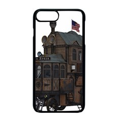 Steampunk Lock Fantasy Home Apple Iphone 7 Plus Seamless Case (black) by Simbadda