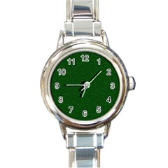 Texture Green Rush Easter Round Italian Charm Watch