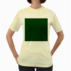 Texture Green Rush Easter Women s Yellow T-Shirt