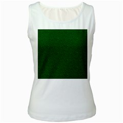 Texture Green Rush Easter Women s White Tank Top